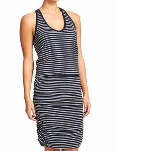 ATHLETA stripe tee racer back dress